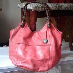 "Gorgeous The Sak ""Indio"" Coral Leather Boho Bag"